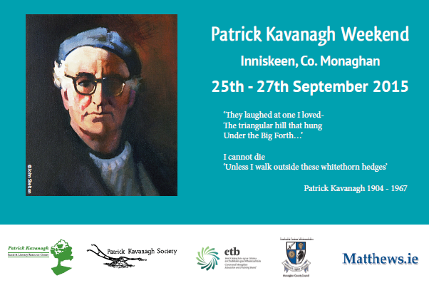 Annual Patrick Kavanagh Weekend & Poetry Awards